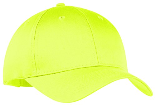 Port & Company Unisex-adult Six-Panel Twill Cap CP80 -Neon Yellow OSFA ()