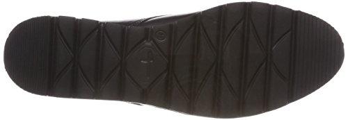 black 23701 003 Leather Stringate Tamaris Scarpe Nero Derby Donna xnOfYAU