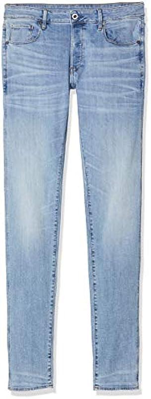 G-STAR RAW 3301 dżinsy męskie o kroju slim fit - wąski 33W / 32L: Odzież