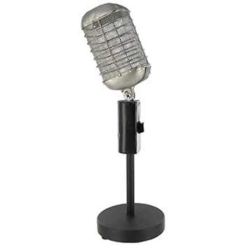(Antique Silver & Black Microphone Table)