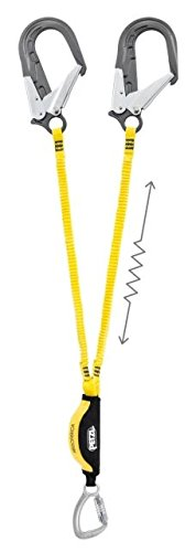 Petzl - ABSORBICA-Y TIE-BACK, Double Lanyard with Energy Absorber by Petzl