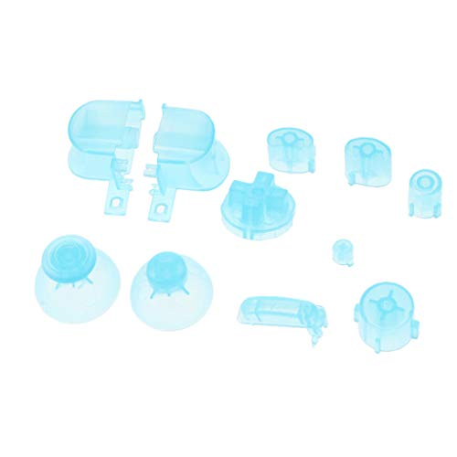 Light Ngc - ABXYZ Buttons +Thumbstick D-pad Triggers Full Buttons Mod Set for NGC Gamecube Controller Clear Light Blue Color