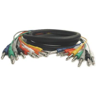 Hosa CPP-802 1/4 inch TS to 1/4 inch TS Unbalanced Snake, 6.6 feet -