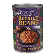 Amy\'s Organic Refried Beans w/ Green Chiles Mild, 15.4 oz