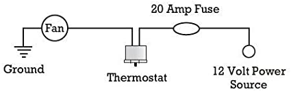1//2 NPT, 200F On - 185F Off American Volt Electric Fan Thermostat Switch Temp Sending Unit NPT Thread Brass Thermo Probe 4-Pack