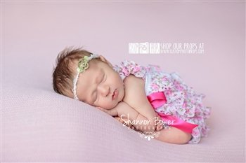THIS LISTING IS FOR THE ROMPER ONLYPink Floral Romper, Newborn Baby Photography Props in 0-3 months - Newborn Photo Props, Bloomers, Girl Props