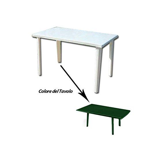 Tavolo in resina antiurto verde cm 120 x 70 da giardino Ironware