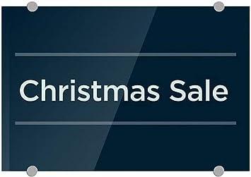 Christmas Sale CGSignLab 18x12 5-Pack Basic Navy Premium Acrylic Sign