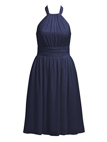 Evening Short Party Dark Navy Cocktail Dress Bridesmaid Alicepub Dresses Halter wxq14xI
