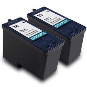 Lexmark 34 18C0034 & Lexmark 35 18C0035 Compatible Remanufactured 18C0535 Combo Pack - 1 Black & 1 Color Ink Cartridges