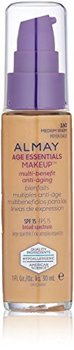 Almay Age Essentials Anti-Aging SPF 15 Foundation, 160 Medium Warm (Pack of 2)