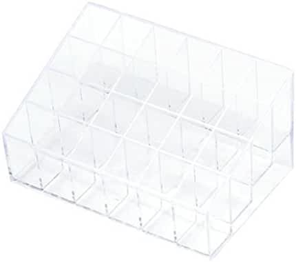 Mchoice 24 Stand Trapezoid Clear Lipstick Lotion Makeup Cosmetic Holder Storage Display Stand