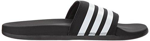 Adidas Kvinna Adilette Komfort Slide Sandal, Svart / Vit / Svart, 11 M Oss Svart / Vit / Svart-1