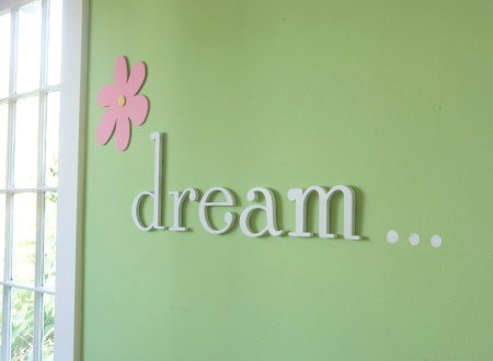Wooden Hanging Wall Letters \