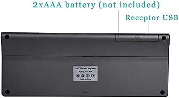 Zienstar-2.4Ghz Mini Teclado Inalámbrico con Touchpad y Teclado ...