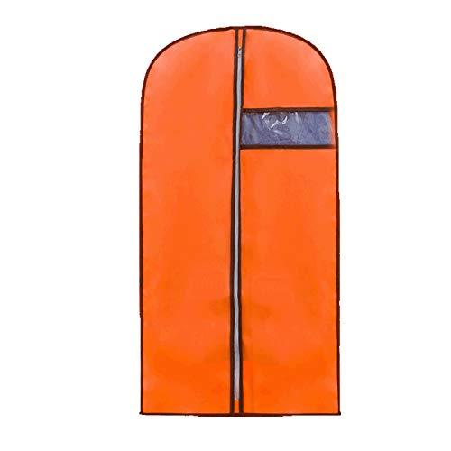 Garment Bags, Premium Quality Breathable Dress/Suit Covers with Clear Window, Full Zipper Suit Bag for Suit Carriers, Dresses, Storage or Travel, 55cm105cm (Orange, 55cm105cm)