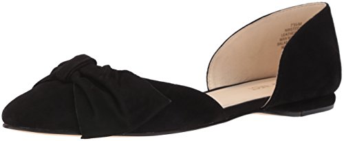 Nine Toile Chaussure West Daim Plate Stefany Noir 1rT1qx7ZnE
