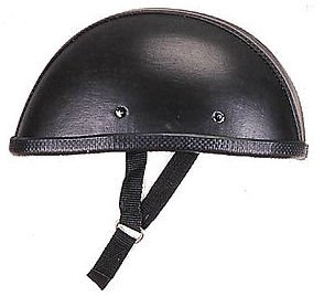 Novelty Leather Cover Eagle Motorcycle Helmet Black Low Profile (Medium)]()
