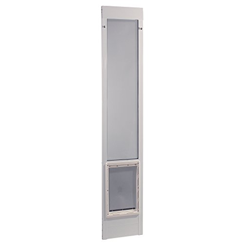 "Ideal Pet Products 75PATSLW 75"" Fast Fit Aluminum Pet Patio Door, Super Large/15"" x 20"", White"