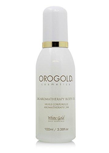 White Gold 24K Aromatherapy Body Oil from OROGOLD Cosmetics, 100 ml. / 3.38 fl. oz. ()