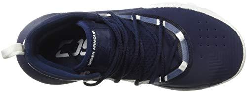 2758b8875c29d Under Armour Boys' Grade School SC 3Zer0 II Basketball Shoe, Midnight Navy  (401)/White, 3.5