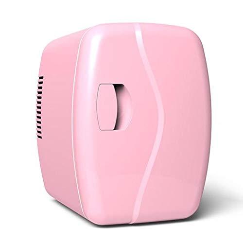 Mini Fridge Car Refrigerator, Mini Fridge, Dorm Refrigerator, 4L, Car/Family, for Car/Boat/Self-Driving/Camping/Outdoor (Color : Pink)