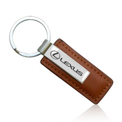 Lexus Brown Leather Key Chain  Official Licensed