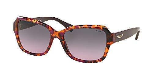 Coach Womens Sunglasses (HC8160) Purple/Grey Acetate - Non-Polarized - 56mm