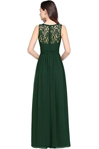 Babyonlinedress Sleeveless Slimming Lace Chiffon Bridesmaid Dresses