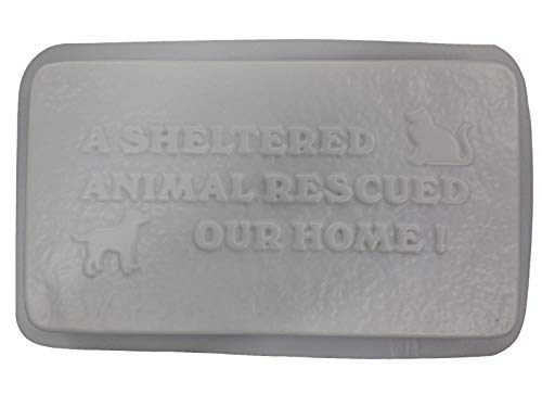 A Sheltered Pet Rescued Dog Cat Stepping Stone Concrete Plaster Mold 1291 For Sale