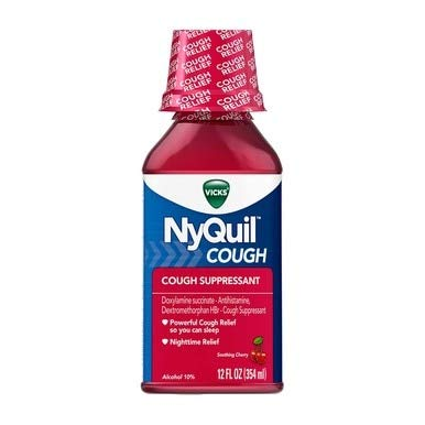 Vicks NyQuil Cough Liquid Cherry - 12 oz, Pack of 5