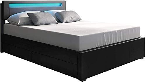 Platform Upholstered Storage Bed Italian Premium Modern Design