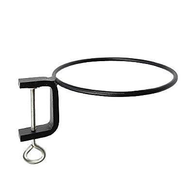 Achla Designs SFR-08C 8 inch Clamp Ring Flower Pot Bracket, 8-inch, Black: Garden & Outdoor