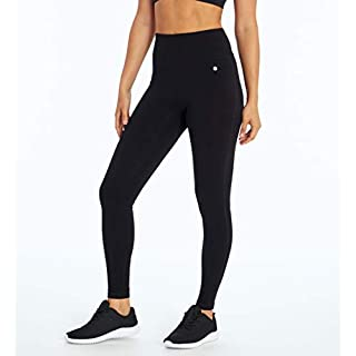 Bally Total Fitness Women's Mid Rise Tummy Control Legging, Black, X-Large