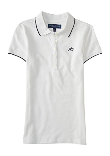 Aeropostale Womens Solid Single Tipped Shirt