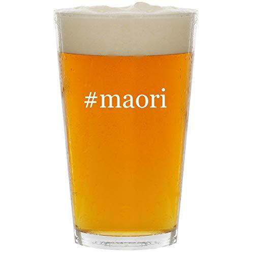 #maori - Glass Hashtag 16oz Beer Pint