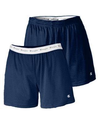 "Champion Ladies' Active 5"" Mesh Shorts - Navy - L"