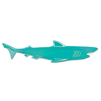 Foil Shark Silhouette Party Accessory (1 count)