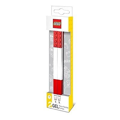 Lego - Loisir Créatif - Papèterie - Lot de 2 Stylos Gel, LG51675, Rouge