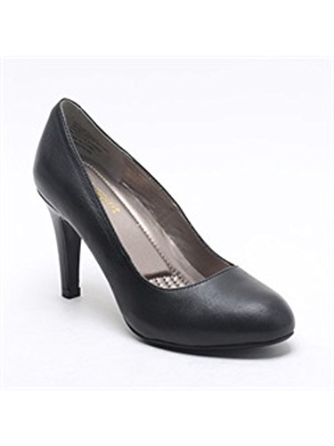 Womens Easy Spirit Pumps - RoundToeMid - Black Leather (10.5, Black)