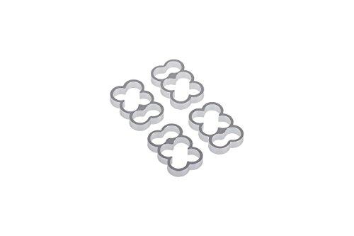 Alphacool 24774 Eiskamm Alu X16-4mm Silver 4 pcs Modding Eiskamm