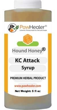 Kennel Cough Syrup: Hound Honey - (5 fl oz) Natural Herbal Remedy for Symptoms of Kennel Cough - Tastes Good - Easy to Administer (Best Home Remedies For Asthma Attacks)