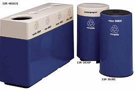 Witt Industries 11RR-481631 Fiberglass recycling container, with plastic liners - Fiberglass Recycling Container