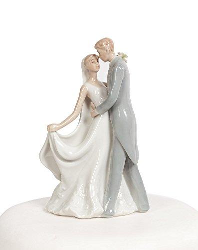 Elegant Porcelain Wedding First Kiss Bride and Groom (Wedding Porcelain)