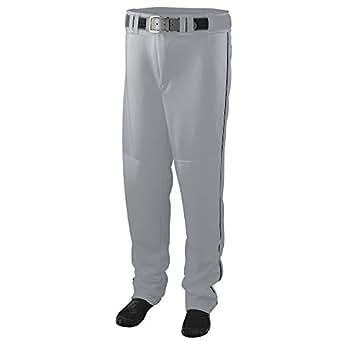 Augusta Sportswear BOYS' SERIES BASEBALL PANTS WITH PIPING - Silver Grey/Black 1446A XS