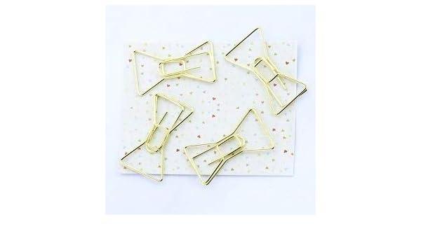 Clip para papel – 4 piezas/lote galvanizado dorado clips de papel ...
