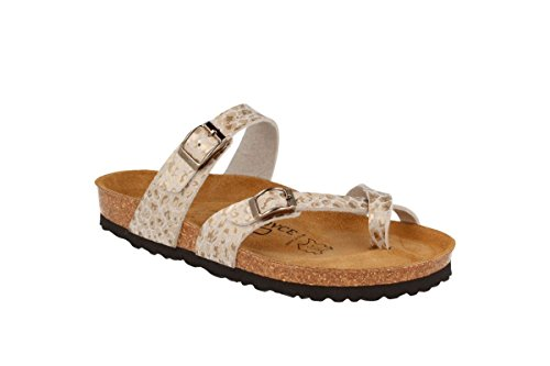 Gold Slippers JOYCE N Milano JOE Sandals Women Softbedded Cork 60USq