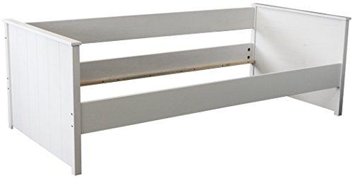 KMH®, Kojenbett aus massivem Pinienholz (200 x 90 cm / weiss) (#800040)