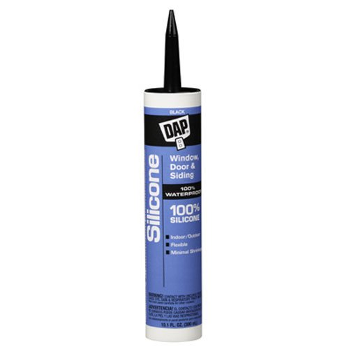 DAP 08642 10.1-Ounce Window and Door 100% Silicone Rubber Sealant, Black ()