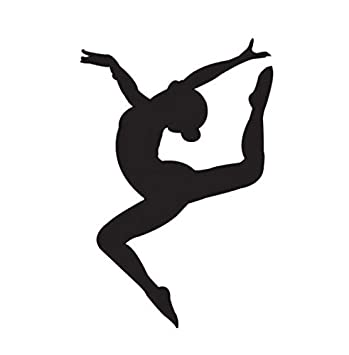 Amazoncom Gymnastics Girl Vinyl Decal Window Sticker Car Wall - Modern car decal sticker girl